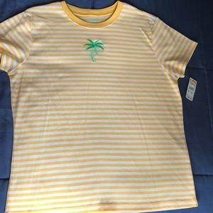 NWT Talbots Petite Palm Shirt Sz PM